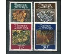 1981 - LOTTO/23544 - LIECHTENSTEIN - MUSCHI E LICHENI 4v. - NUOVI
