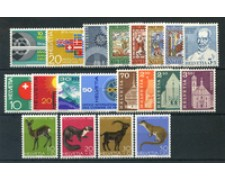 1967 - LOTTO/23620 - SVIZZERA - ANNATA COMPLETA 20v. - NUOVI