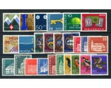 1968 - LOTTO/23621 - SVIZZERA - ANNATA COMPLETA  25v. - NUOVI