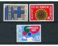 1977 - LOTTO/23632 - SVIZZERA - PROPAGANDA I° 3v. - NUOVI