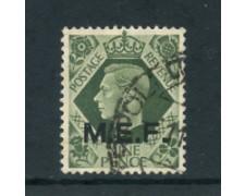 1943/47 - LOTTO/23655 - COLONIE OCCUPAZIONE INGLESE - 9p. VERDE OLIVA - USATO