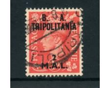 1950 - LOTTO/23680 - B.A. TRIPOLITANIA - 2 M. SU 1p. ROSSO - USATO