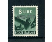 1949/50 - LOTTO/23721 - TRIESTE A -  8 LIRE DEMOCRATICA - NUOVO