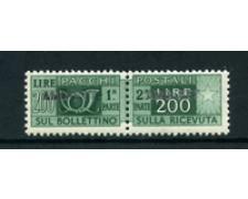 1949/53 - LOTTO/23729 - TRIESTE A - 200 LIRE PACCHI POSTALI - NUOVO