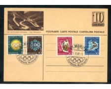 1948 - LOTTO/23734 - SVIZZERA - OLIMPIADI ST. MORITZ USATI SU CARTOLINA POSTALE