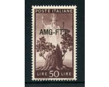 1949/50 - LOTTO/23750 - TRIESTE A - 50 LIRE DEMOCRATICA - NUOVO