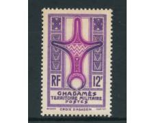 1949 - LOTTO/23759 - GHADAMES - 12 F. VIOLETTO LILLA - NUOVO
