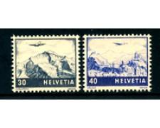 1948 - LOTTO/23767 - SVIZZERA - POSTA AEREA 2v. NUOVI