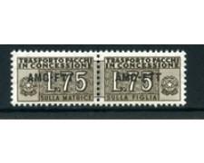 1953 - LOTTO/23792 - TRIESTE A - 75 LIRE PACCHI CONCESSIONE - NUOVO