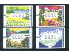 1996 - LOTTO/23827 - SVIZZERA - 4 STAGIONI X DISTRIBUTORI - NUOVI