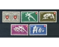 1950 - LOTTO/23848 - SVIZZERA - PRO PATRIA 5v. - NUOVI