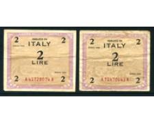 1943 - ITALIA OCCUPAZIONE AMERICANA - LOTTO/23882  - 2 AM-LIRE