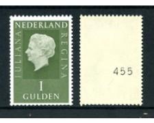 1969/73 - LOTTO/23887 - OLANDA - 1 GULDEN VERDE REGINA GIULIANA CON CIFRA - NUOVO