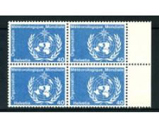 1973 - LOTTO/23976 - SVIZZERA - SERVIZIO - 40c. METEREOLOGIA - QUARTINA NUOVI
