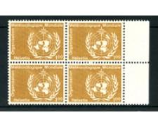 1973 - LOTTO/23978 - SVIZZERA - SERVIZIO - 100c. METEREOLOGIA - QUARTINA NUOVI