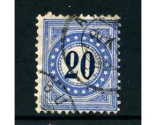 1878/1880 - LOTTO/23980 - SVIZZERA - SEGNATASSE -  20c. OLTREMARE - USATO
