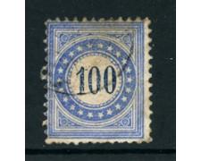 1878/1880 - LOTTO/23981 - SVIZZERA - SEGNATASSE - 100c. OLTREMARE - USATO