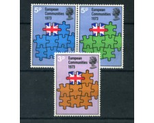 1973 - LOTTO/24032 - GRAN BRETAGNA - INGRESSO IN EUROPA 4v. - NUOVI