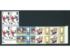 1966 - LOTTO/24040Q - GRAN BRETAGNA - MONDIALI DI CALCIO 3v. - quartine