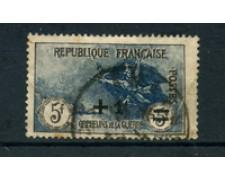 1922 - LOTTO/24042 - FRANCIA - +1 FR. SU 5+5 FR. PRO ORFANI - USATO