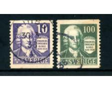 1938 - LOTTO/24046 - SVEZIA - E.SWEDENBORG 2v. - USATI