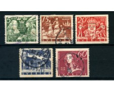 1938 - LOTTO/24047 - SVEZIA - COLONIA NUOVA SVEZIA 5v. - USATI