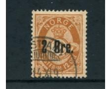1888 - LOTTO/24050 - NORVEGIA - 2 su 12 o. BISTRO USATO