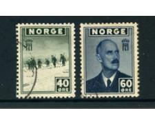 1944 - LOTTO/24051 - NORVEGIA - 40 -60 o. GOVERNO IN ESILIO - USATI
