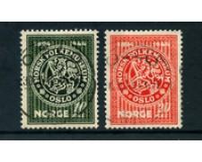 1945 - LOTTO/24053 - NORVEGIA - MUSEO NAZIONALE  2v. - USATI