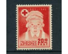 1945 - LOTTO/24054 - NORVEGIA - 80° CROCE ROSSA - LING.