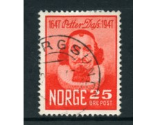 1947 - LOTTO/24056 - NORVEGIA - 25o. PETTER DASS - USATO