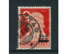 1948 - LOTTO/24059 - NORVEGIA  - PRO CROCE ROSSA SOPRASTAMPATO - USATO