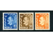 1950 - LOTTO/24060 - NORVEGIA - 45/50755 RE HAAKON 3v. - LING.
