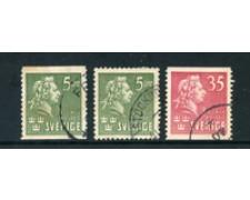1940 - LOTTO/24067 - SVEZIA - C.M.BELLMAN 3v. - USATI