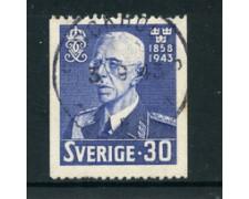 1943 - LOTTO/24070 - SVEZIA - 80o. COMPLEANNO RE GUSTAVO - USATO