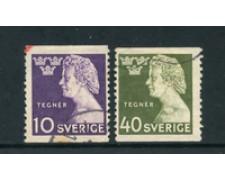 1946 - LOTTO/24073 - SVEZIA - ISAIA TEGNER 2v. - USATI