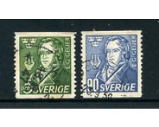 1947 - LOTTO/24074 - SVEZIA - GUSTAF GEIJER 2v. - USATI