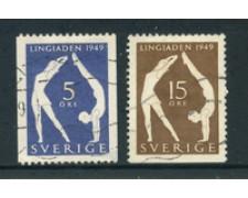 1949 - LOTTO/24076U - SVEZIA - EDUCAZIONE FISICA 2v. - USATI