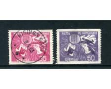 1963 - LOTTO/24079 - SVEZIA - CAMPAGNA CONTRO LA FAME 2v. - USATI