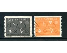 1963 - LOTTO/24080 - SVEZIA - INGEGNERIA E INDUSTRIA 2v. - USATI