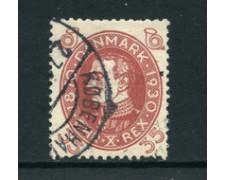 1930 - LOTTO/24090 - DANIMARCA - 35 o. COMPLEANNO RE CRISTIANO X - USATO