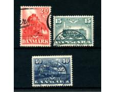 1947 - LOTTO/24092U - DANIMARCA - CENTENARIO FERROVIE 3v. - USATI