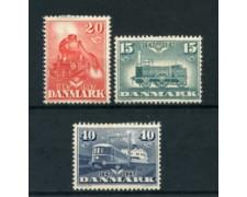 1947 - LOTTO/24092 - DANIMARCA - CENTENARIO FERROVIE 3v. - LING.