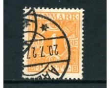 1921/27 - LOTTO/24095 - DANIMARCA - SEGNATASSE 1 o. ARANCIO - USATO