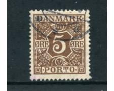 1921/27 - LOTTO/24096 - DANIMARCA - SEGNATASSE 5 o. BRUNO - USATO