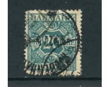 1921/27 - LOTTO/24097 - DANIMARCA - SEGNATASSE 20 o. AZZ.VERDE - USATO
