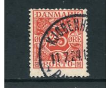 1921/27 - LOTTO/24098 - DANIMARCA - SEGNATASSE 25 o. ROSSO - USATO