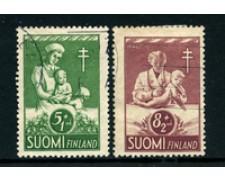 1946 - LOTTO/24165 - FINLANDIA - PRO TUBERCOLOTICI 2v. - USATI