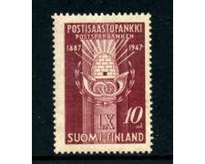 1947 - LOTTO/24168 - FINLANDIA - 60° DELLA CASSA DI RISPARMIO  1v. - NUOVO