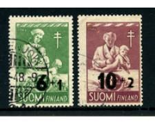 1947 - LOTTO/24170 - FINLANDIA - PRO TUBERCOLOTICI SOPRASTAMPATI 2v. - USATI